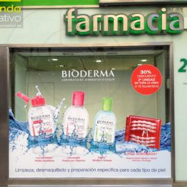 Escaparate farmacia bioderma